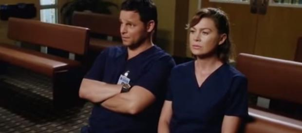 Alex and Meredith sitting together from an YouTube video
