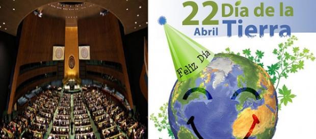 Ceremonia en la ONU para la firma del Acuerdo de París en el marco del Día de la Tierra.