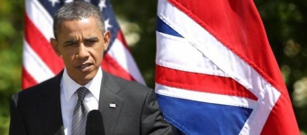Obama durante una rueda de prensa