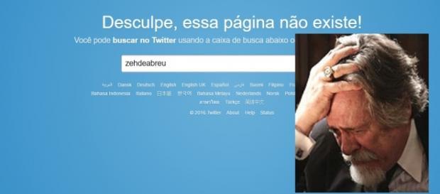 Conta de José de Abreu é excluída do Twitter - Imagem/Reprodução