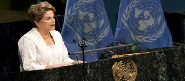 Dilma em pronunciamento na ONU