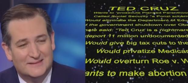Ted Cruz campaign ad, via YouTube