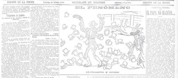 El duende Esparto en una, de muchas publicaciónes de la prensa que salierón sobre él.