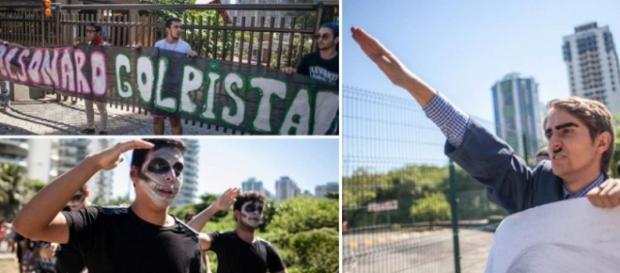 Manifestantes se reuniram na frente do condomínio do deputado