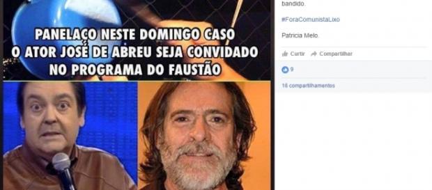 Panelaço é organizado contra Zé de Abreu