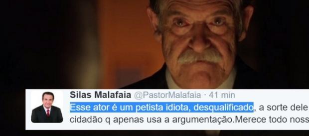 Silas Malafaia e José de Abreu - Foto/Montagem