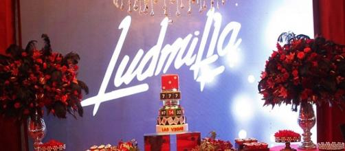Imagem do bolo da festa de Ludmilla