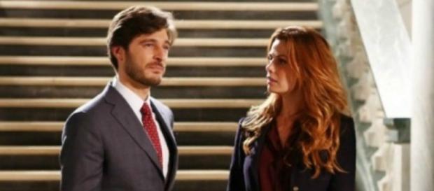 Enrico e Lisa in una scena della fiction Non dirlo al mio capo.