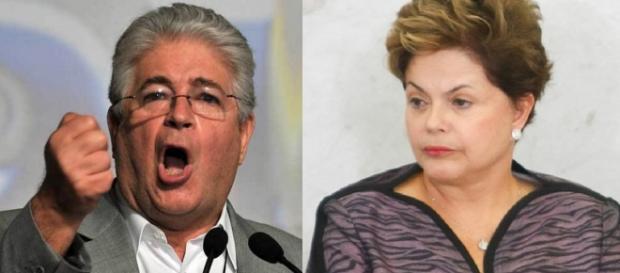 Roberto Requião e Dilma Rousseff - Foto/Montagem