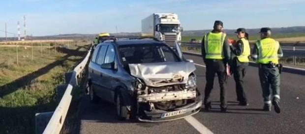 Uno de los vehículos afectados en el trágico suceso