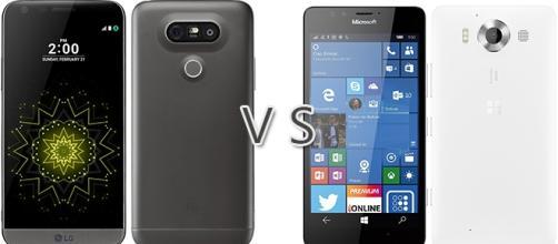Confronto: LG G5 vs Microsoft Lumia 950