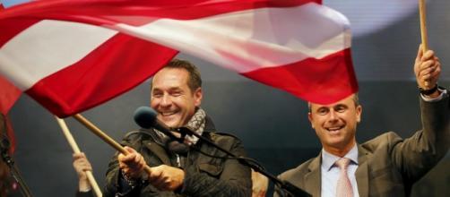 Heinz-Christian Strache e Norbert Hofer, leader della destra austriaca