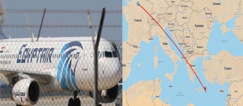 Lugar de la posible caída del Airbus A320