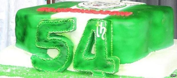 Foto del pastel del aniversario