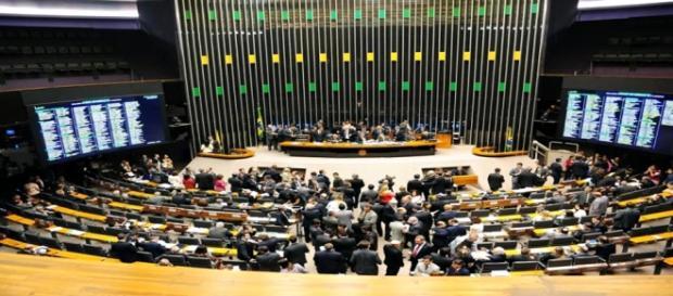 Plenário no Senado Federal em Brasília