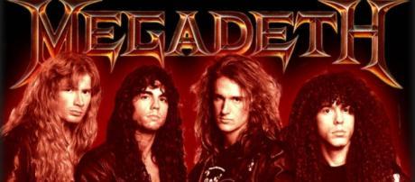 Nick Menza con la formación de Megadeth en los primeros años de los 90s