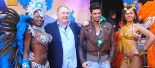 Lele Mora con l'ex tronista Cristian Gallella