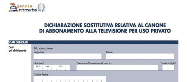 Dichiarazione Di Non Detenzione TV Per Il Canone Rai