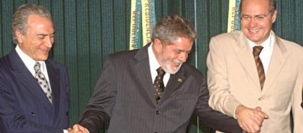 Michel Temer, Lula e Renan Calheiros - Imagem do Google