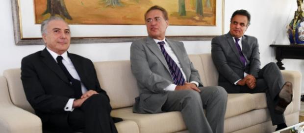 Michel Temer, Renan Calheiros e Aécio Neves