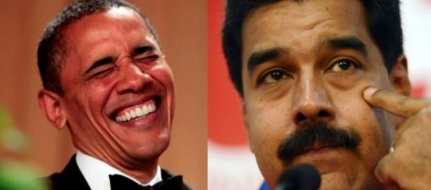 Presidente Barack Obama e Maduro - Foto/Montagem