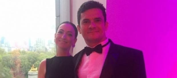 Sérgio Moro e sua esposa em jantar de gala nos EUA