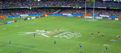 Immagine scattata durante una partita di rugby