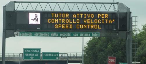 Controllo elettronico della velocità sulle autostrade