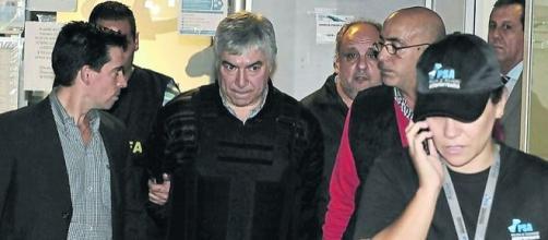 Detención de Lázaro Báez. Imagen de LaNación.com