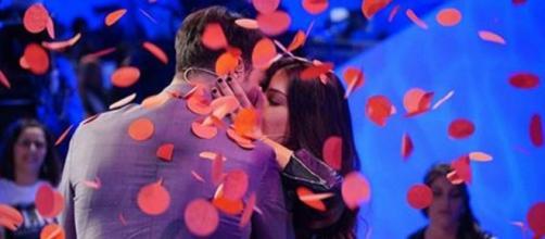 Fabio Ferrara e Ludovica Valli al momento della scelta