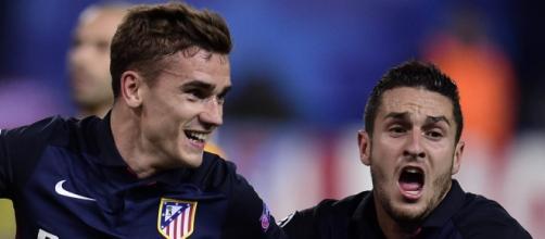 Griezmann y Koke. Atlético de Madrid
