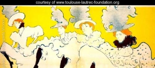 Uno dei lavori di Toulouse-Lautrec