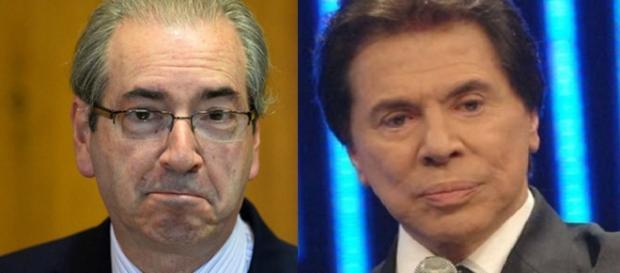 Eduardo Cunha e Silvio Santos - Foto/Reprodução