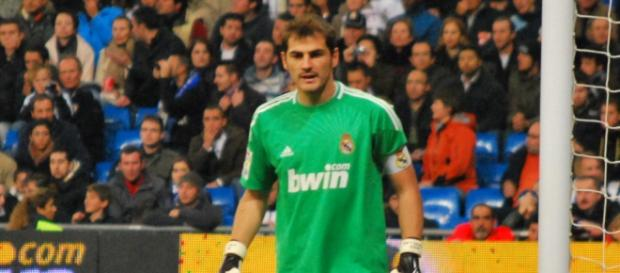Iker Casillas con el Real Madrid