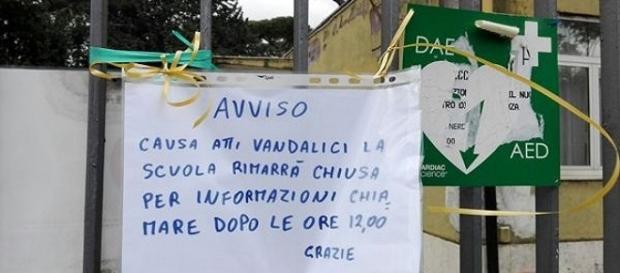 La chiusura della scuola Fabio Filzi nel quartiere Tiburtino