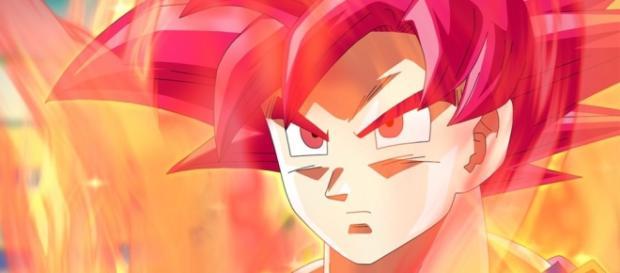 Son Gokú super saiyajin dios rojo