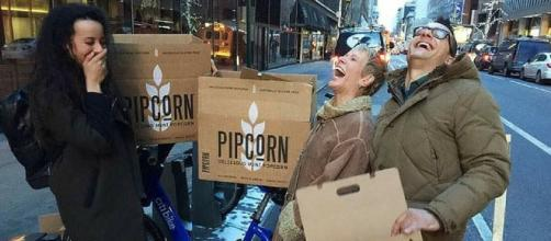 PipCorn Founders with Barbara Corcoran Photo Courtesy ABC News