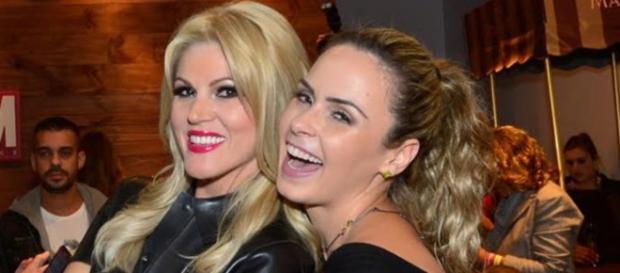 Ana Paula e Val Marchiori, amizade selada