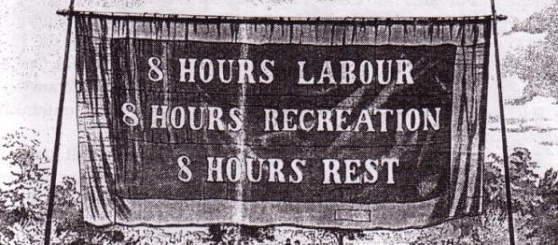 Cartel reivindicativo del movimiento obrero