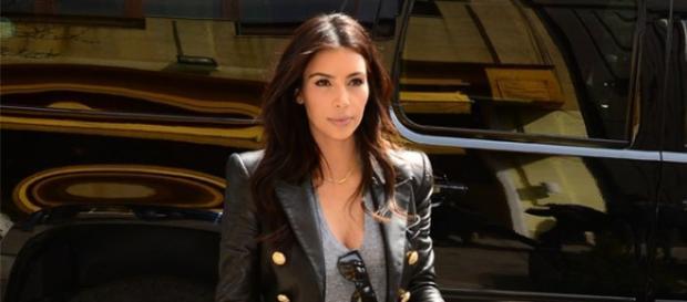 Kim Kardashian na altura do seu casamento