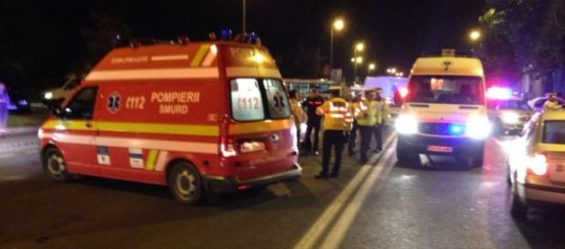 Poliţist accidentat în timp ce dirija traficul