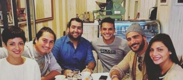 VCTE: Paula Bolatti, Óscar Garcés, Mariano Brozincevic y Kathy Contreras juntos fuera del encierro