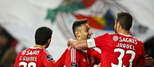 Jonas a festejar um golo pelo Benfica