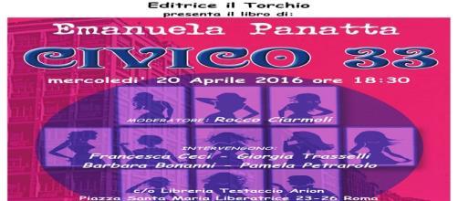 la locandina della presentazione del libro di Emanuela Panatta