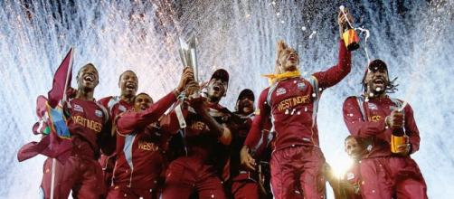 West Indies team after winning the T20 Cricket World Cup 2016 (Source: tsmplug.com)