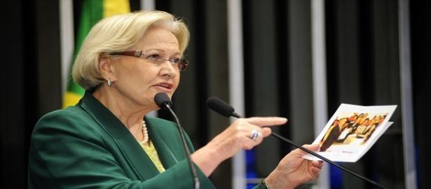 Senadora Ana Amélia em sessão no Senado Federal