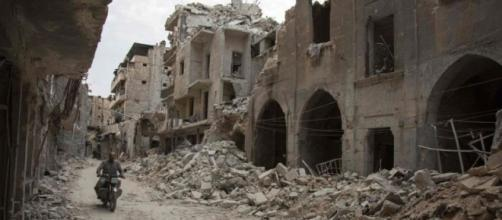 Una de las partes de la ciudad que ha sido destruida