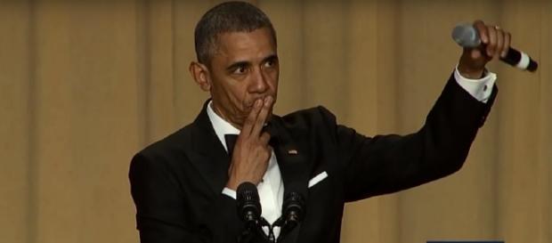 Screencap of President Obama at 2016 White House Correspondents' Dinner. CSPAN/YouTube