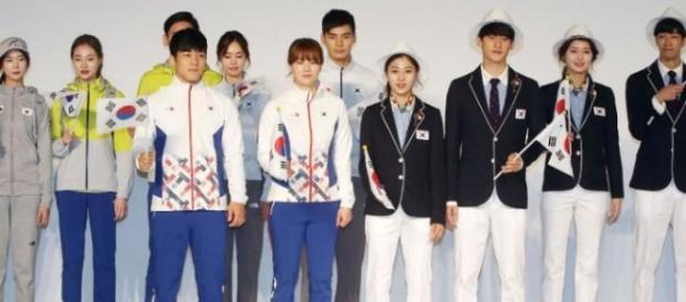 Uniforme dos atletas da Coreia do Sul