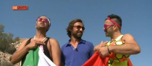 Pio e Amedeo con Andrea Pirlo a Ibiza
